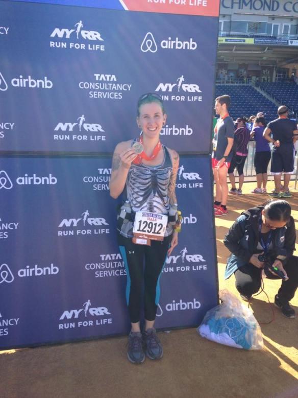 At the Staten Island Half Marathon, October 2014