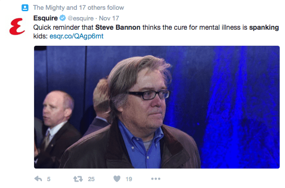 steve bannon spanking will not cure mental illness