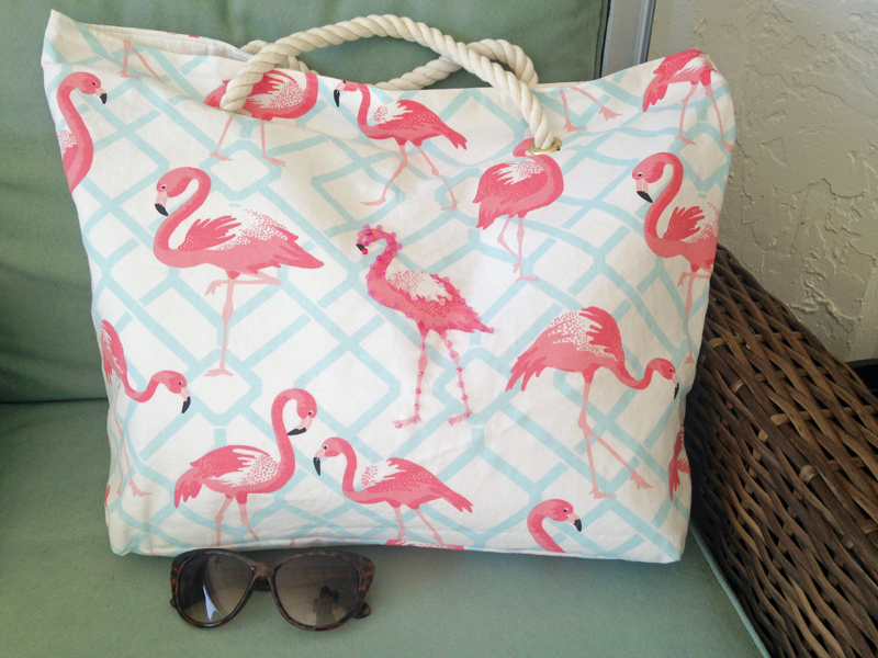 beach sling chair back support office flamingo bag | bags more