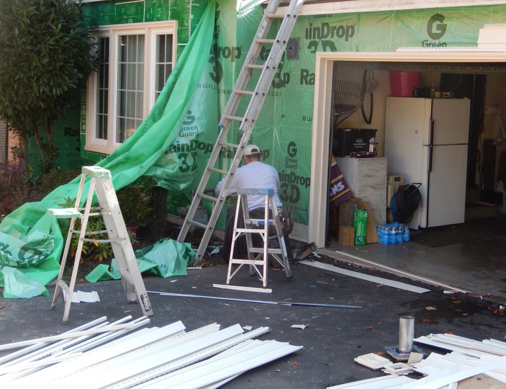 Green Guard Raindrop House Wrap Installation  Fairfax