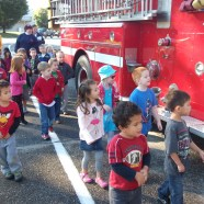 Fire truck Visits for Fire Safety Week