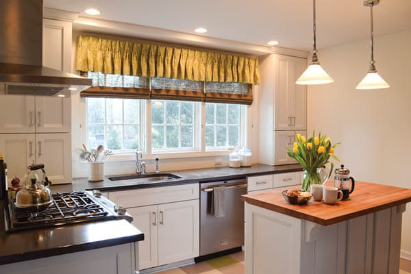 modern kitchen window treatments countertops white what to consider when selecting for kitchens