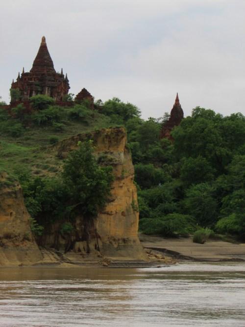 Bagan - First Glimpse from Ayeyarwaddy