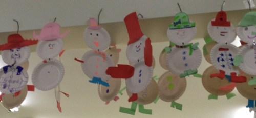 Pape Plate Snowmen
