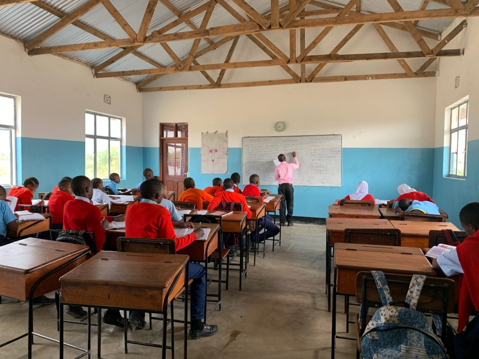 Classroom at Mungere Secondary School