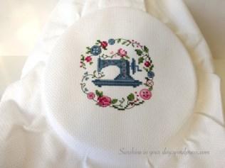 Cross Stitch before ironing