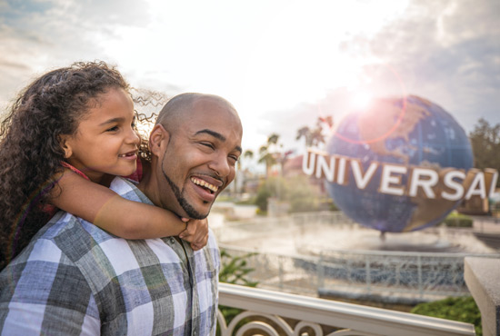 Father and Daughter at Universal Studios Orlando