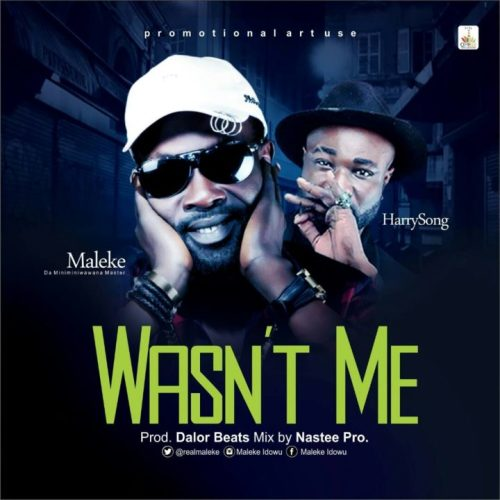DOWNLOAD: Maleke Ft  Harrysong – Wasn't Me (Audio) – Sunshine Music NG