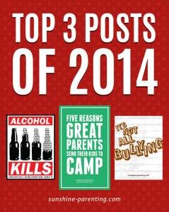 Sunshine Parenting: Top 3 Posts of 2014