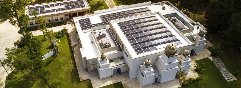 Solar Energy Generating panels roof mounted