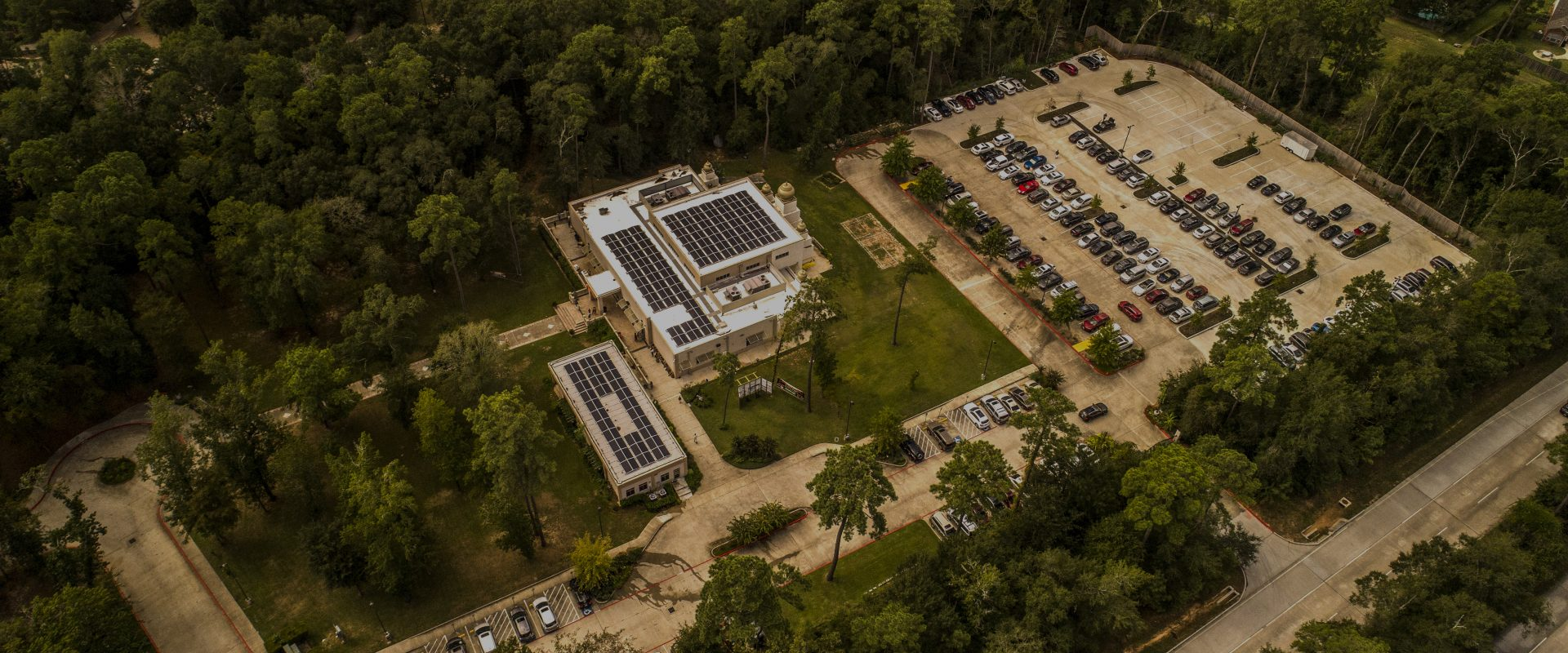 Commercial Solar Installer in TX. Solar installed on hindu temple in woodlands texas.