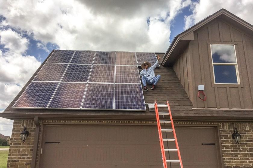 Successful Bryan Texas Solar Panel Install
