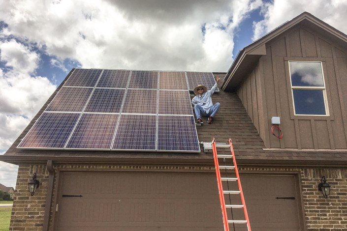 Successful Bryan Texas Solar Panel Install