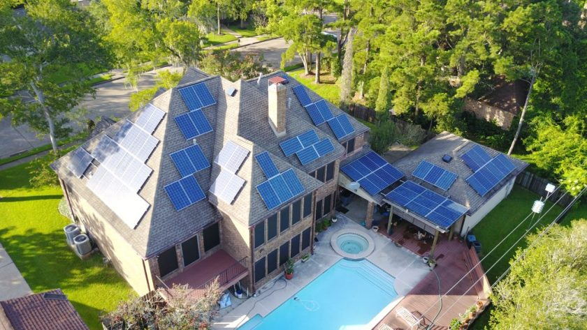 Large Scale Residential Solar Energy System in Clear Lake