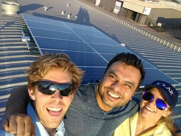 Group Selfie Sugar Land Business Solar Installation