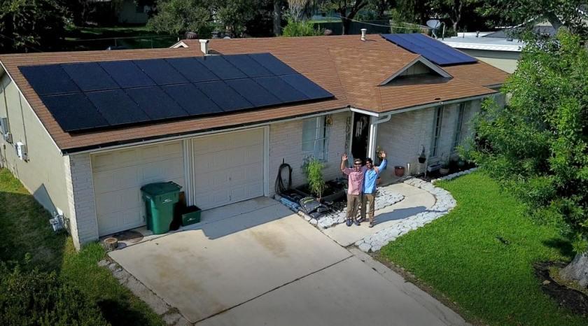 Solar panel system installation in Houston
