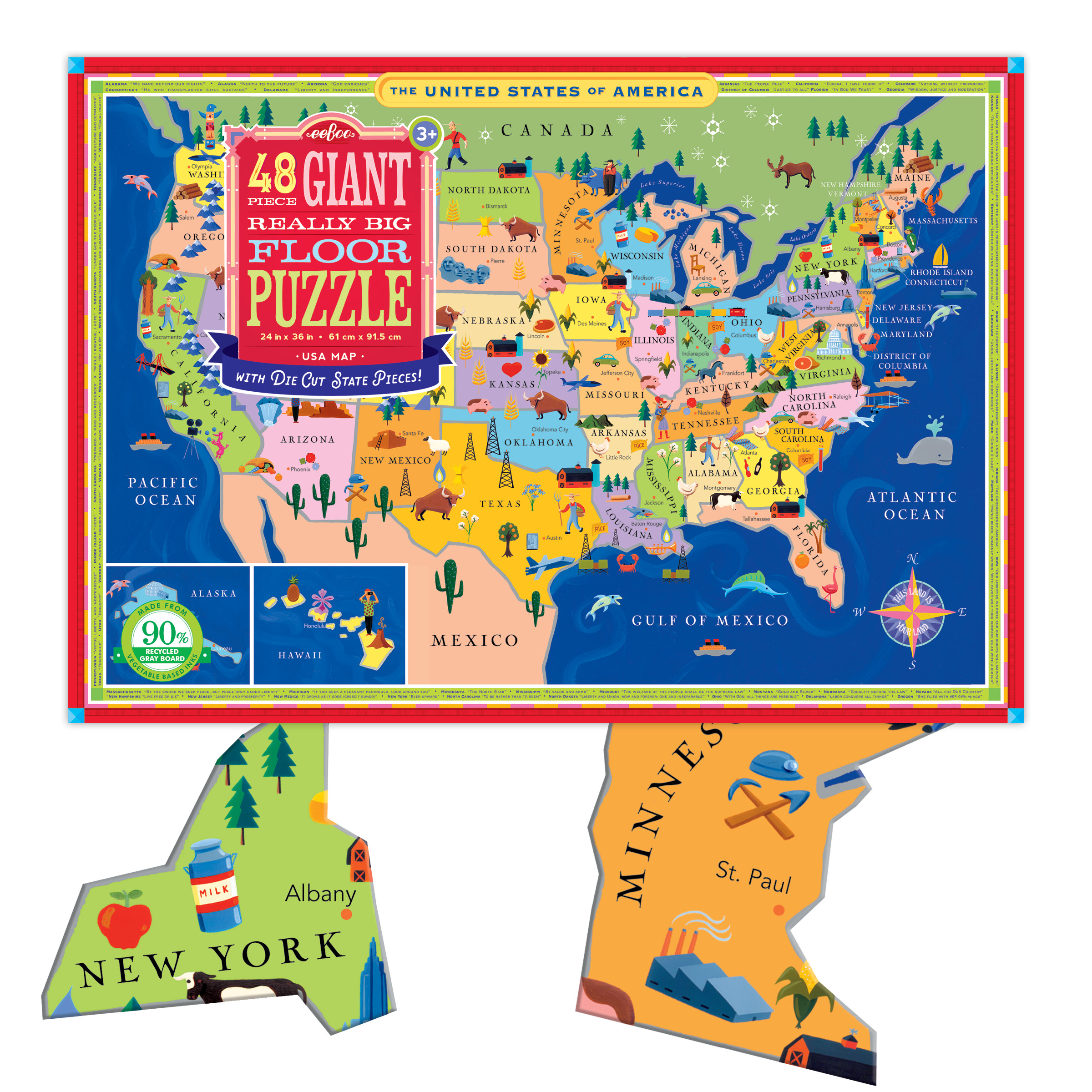 Usa Map Giant Floor Puzzle