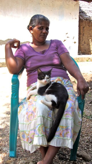 The only Sri Lankan I've ever met willing to let a cat sit on them.