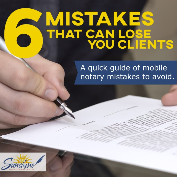 Beware these 6 Mobile Notary Errors