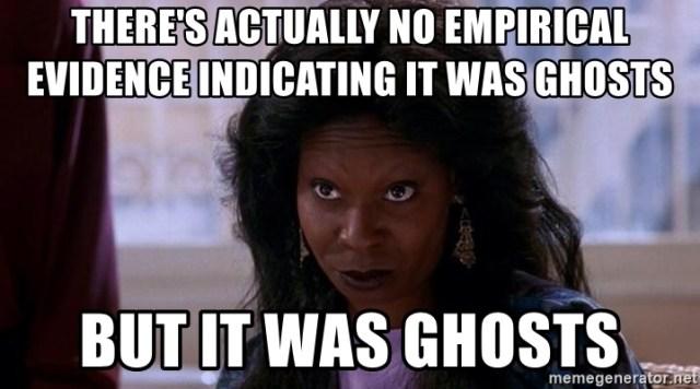 Whoopi Goldberg Meme - It Was Ghosts