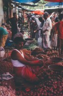 The locals at Weligama market