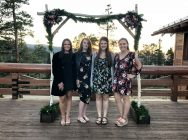 Great friends and newspaper alum, Madi, Taylor, and Tessa, all at Bobby and Paige's wedding.