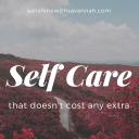 Self care that doesn't cost any extra