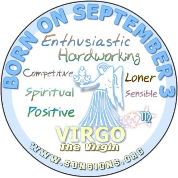 September 3 Zodiac Horoscope Birthday Personality