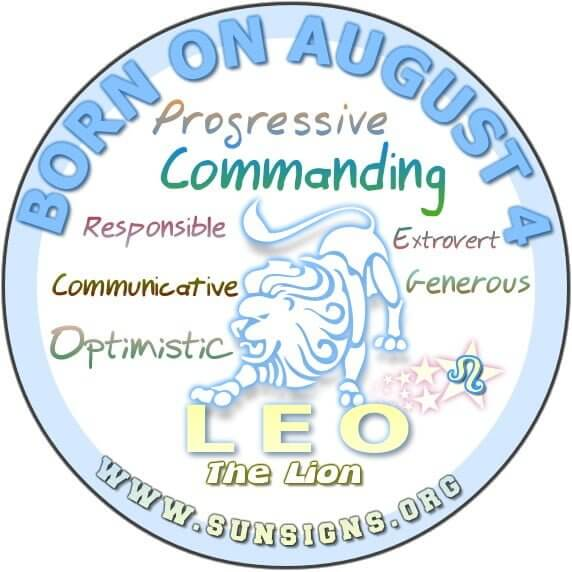 August 4 Birthday Horoscope Personality  Sun Signs