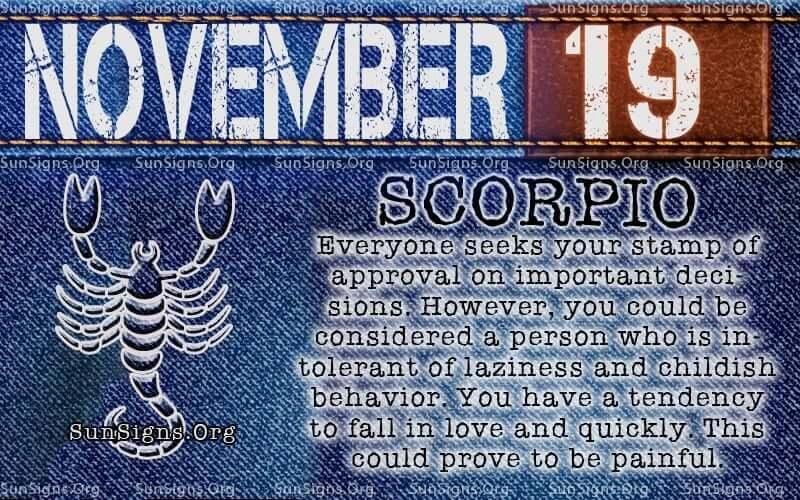 November 19 Birthday Horoscope Personality  Sun Signs