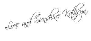 Love and Sunshine Kathryn Signature