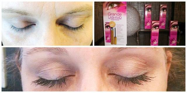 Kathryn SunSpray Before and After Grande Lash Amazon Link