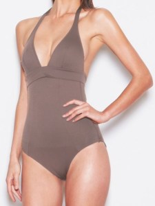 VIOLET LAKE LONDON SWIMWEAR COLLECTION VESPER IN TRUFFLE