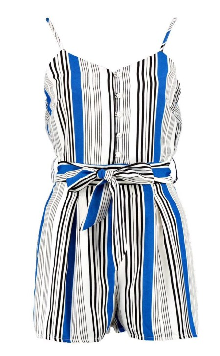 Bella Belted Striped Cami Playsuit versatile playsuits you need for summer