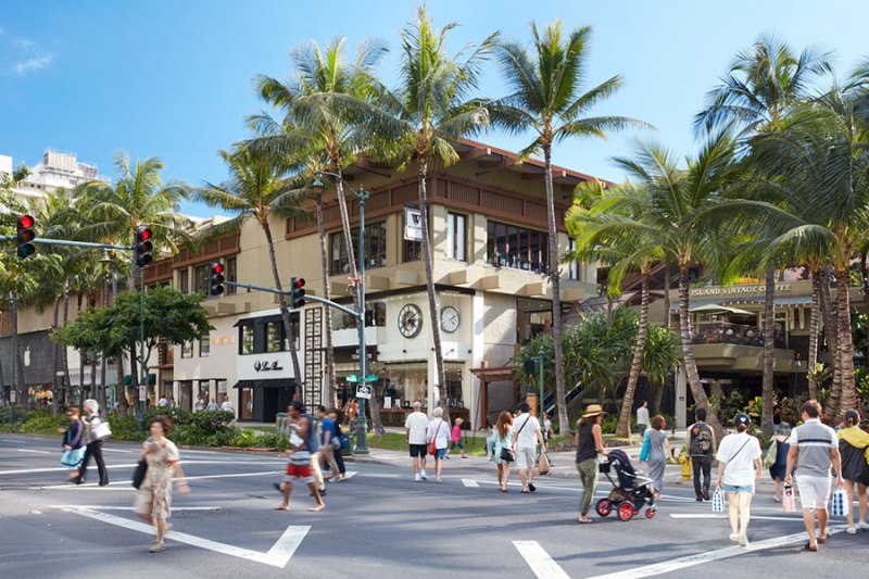Let's discover what to see and do in Honolulu, Paradise Island of Hawaii! shopping mall
