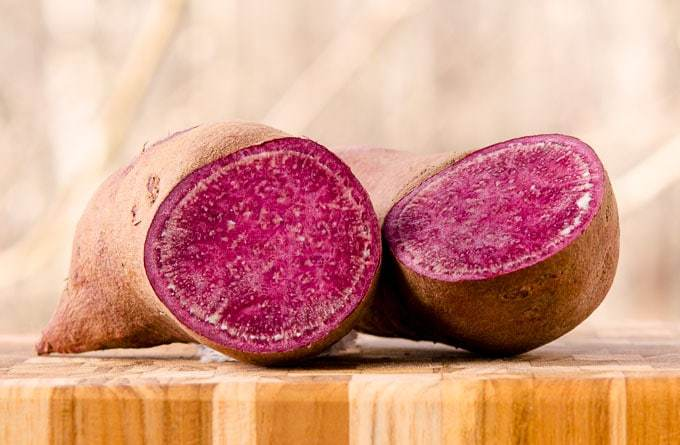 radiant skin smoothie bowl purple sweet potatoes