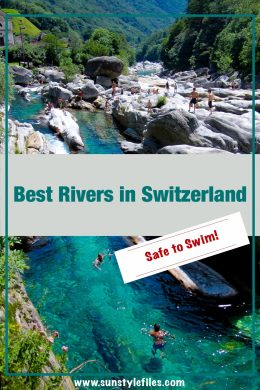Best RIvers in Switzerland that are Safe for Swimming #rivers #switzerland #swim #naturalpool #wildswimming