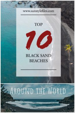 Top 10 Black Sand Beaches Around The World #beaches #blacksand #summer #travel