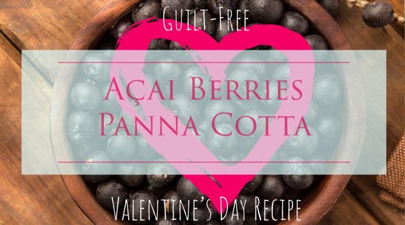 gluten-free, dairy-free, vegan panna cotta acai berries
