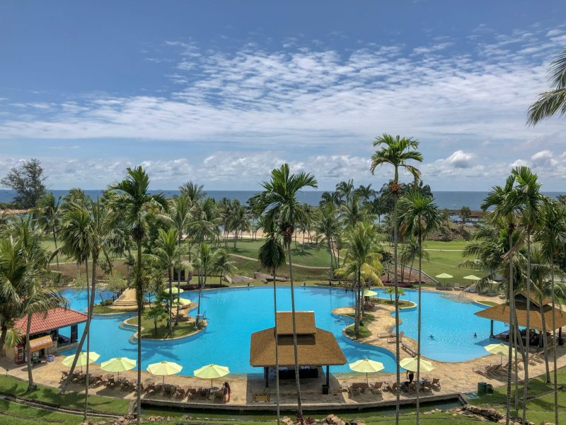 main swimming pool with view of south china sea