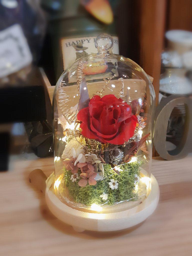 陽光灑落 乾燥花 玻璃花盅 乾燥花課程 乾燥花製作 乾燥花diy 企業課程 生活花藝課程 生活花藝乾燥花