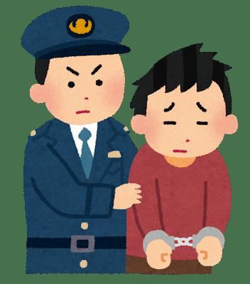 逮捕される人のイラスト
