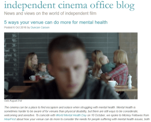 Independent cinema office mental health blog