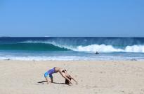 Wave peeling, Tegan in upside down wheel