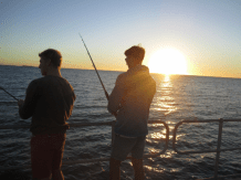 Dan and Sean fishing off the jetty at Jurien Bay