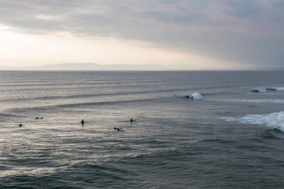 Surf at the beach break in Bundoran