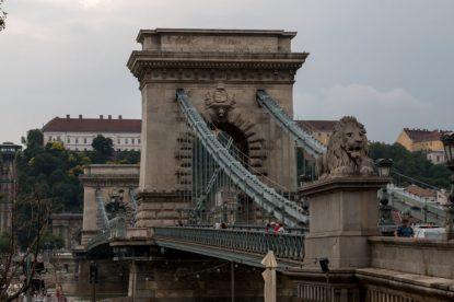 The chain bridge up close