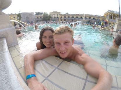 Selfie from inside the thermal pool