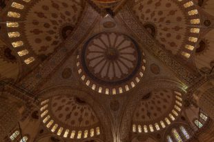 A section of the tiled rooftop inside the Blue Mosque, such intricate patterns!