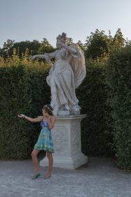 Tegan imitating another statue
